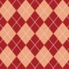 赤とピンクのアーガイル風のチェックパターン