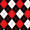 赤・白・黒のアーガイルチェック素材