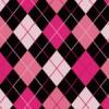 ピンクと黒で女性らしい印象をもつアーガイル柄