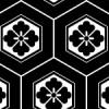 カメの甲羅を表す六角形の亀甲のシームレスパターン