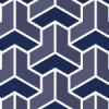 藍色を使用した組亀甲のシームレス和柄パターン