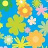 花畑のようなシームレスパターン