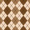 ブラウンベースのアーガイルチェックのシームレスパターン
