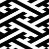 白黒の紗綾形の文様パターン
