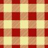 赤と薄い黄色のシェパードチェックパターン