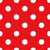 ミニーちゃんのスカートと同じ、赤に白い水玉のパターン