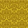 金色ベースの欧風ダマスク柄パターン