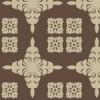 2種類のハワイアンキルトを正方形状に並べたパターン