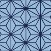 紺色の麻の葉模様パターン