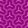 紫の毘沙門亀甲柄のパターン