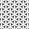 六角形が絡み合ったように見える組亀甲柄パターン