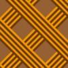 オレンジと茶色のラインが交差するパターン