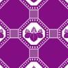 紫の桐文様和柄パターン