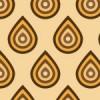 オレンジと茶色のレトロ感のあるパターン