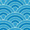 破線でくぎられた可愛らしい波型のパターン
