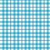 水色の2本のラインが重なるチェック柄パターン