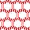 赤い六角形が組み合わさった亀甲柄のパターン
