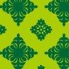 緑ベースのハワイアンキルト柄パターン