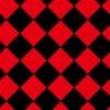 赤と黒のハーリキンチェック柄パターン