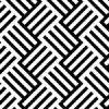 白黒のラインがカゴのように交差するバスケットチェック柄パターン