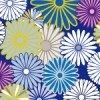 紺色ベースの菊紋柄パターン