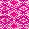 ピンクと紫ベースの女性的な菊菱パターン