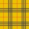 黄色ベースに赤と黒のラインのタータンチェック柄パターン