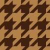 ブラウンベースの千鳥格子柄パターン