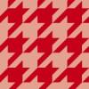 赤いハウンドトゥース(千鳥格子)柄パターン
