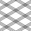 3つの線が重なり菱形をつくる三重襷のパターン