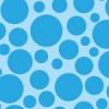 様々な大きさの青い丸が散らばるパターン