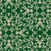 緑ベースの西欧風ダマスク柄パターン