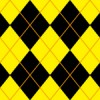 黒と黄色のアーガイルチェックパターン