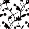 白黒のナチュラルな植物のパターン