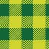 濃淡の有る2色の緑のシェパードチェックパターン