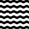 白黒のうねうねした線が重なるパターン