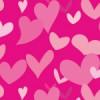 たくさんのピンクのハートが溢れるパターン