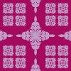 紫ベースのハワイアンキルト柄パターン