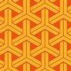 オレンジベースの華やかな組亀甲パターン