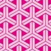ピンクで構成された可愛らしい組亀甲柄パターン