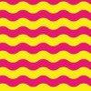 黄色とピンクの波打つラインパターン