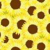 ヒマワリが咲き乱れた花畑のようなイラストパターン