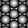 複数に重なる円が並ぶパターン