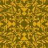 金色配色の西洋壁紙風ダマスク柄パターン