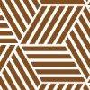六角形のように見えるバスケットチェック柄パターン