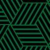 緑と黒のダークな印象を受けるバスケットチェックパターン