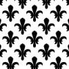 モノクロの百合の紋章柄パターン