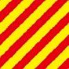 ラフの入った赤と黄色の斜線パターン