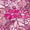 ピンクベースの南国系植物イラスト背景パターン