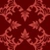 楓の葉のモチーフが入った臙脂色パターン